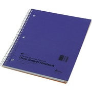 "Notebook , 3 Sub , 11"" x 8 7/8"" , Assorted , College Ruled , 120 Sheets"