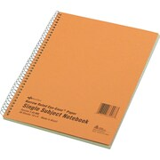 "National Brand Wirebound 1-Subject Green Tint Notebook, 10"" x 8"", Narrow/Margin Ruled, 80 Sheets/Book"