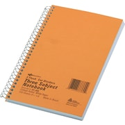 "National Brand Wirebound 3-Subject Unpunched Notebook, 9 1/2"" x 6"", College Rule, 150 Sheets"
