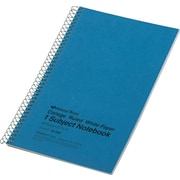 """National® Wirebound 1-Subject Notebook, College Ruled, 9.5"""" x 6"""", Blue, 80 Sheets (B33502STA)"""