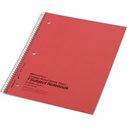 "National Brand Wirebound 1-Subject Notebook, College/Margin Ruled, 11"" x 8 7/8"", 80 Sheets/Book"