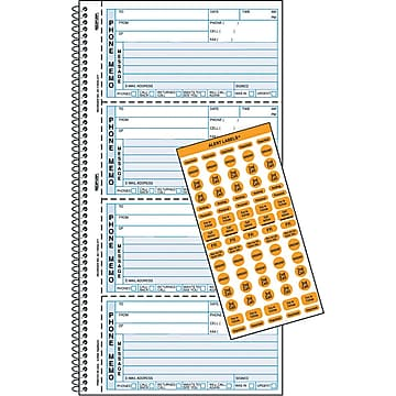 """Rediform® Professional Line Telephone Message Book, Memo Style, 2 Part Carbonless, 11"""" x 5 3/4"""" (R50176)"""