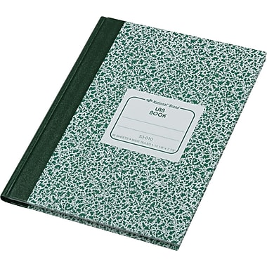 national laboratory notebook green hard cover wide ruled 10 18