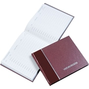 "National Brand® Hardcover Visitor Register Book, Burgundy, 128 Pages, 792 Entries, 8 1/2"" x 9 7/8"""
