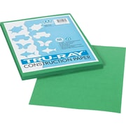 "Tru-Ray® Sulphite Construction Paper, 9"" x 12"", Holiday Green, 50 Sheets"