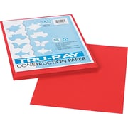 "Tru-Ray® Construction Paper, Holiday Red, 9"" x 12"", 50 Sheets/Pk"