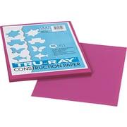 "Pacon Tru-Ray® Sulphite Construction Paper, 76 lbs., Magenta, 12""H x 9""W, 50 Sheets/Pk"