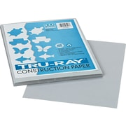 "Pacon Tru-Ray® Sulphite Construction Paper, 76 lbs., Gray, 12""H x 9""W, 50 Sheets/Pk"