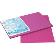"Pacon Tru-Ray® Sulphite Construction Paper, 76 lbs., Magenta, 18""H x 12""W, 50 Sheets/Pk"