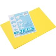 "Tru-Ray® Sulphite Construction Paper, 12"" x 18"" ,Yellow, 50 Sheets"