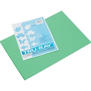 "Pacon Tru-Ray Construction Paper 18"" x 12"", Festive Green, 50 Sheets (103038)"