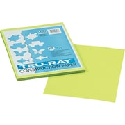 "Tru-Ray® Sulphite Construction Paper, 9"" x 12"", Brilliant Lime, 50 Sheets"
