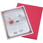 "Pacon® Riverside® 103590 GroundWood Construction Paper, Red, 9""(W) x 12""(L), 50 Sheets"