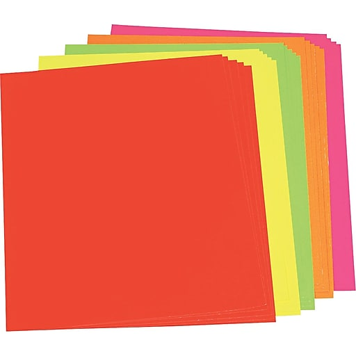 Color Poster Board, 22 x 28, Five Assorted Neon Colors ...