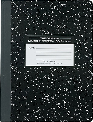 Roaring Spring Paper Products Marble Composition Book, 9 3/4
