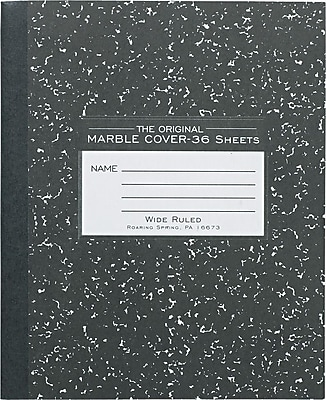 Roaring Spring Center Sewn Marble Cover Composition Book, 8 1/2