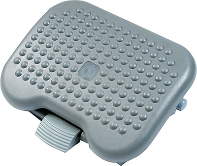 Rubbermaid Plastic Adjustable Tilting Footrest, Charcoal (FG4653)