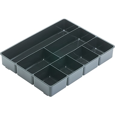 Rubbermaid® Black Plastic Deep Drawer Organizer