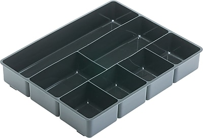 Rubbermaid 174 Black Plastic Deep Drawer Organizer Staples