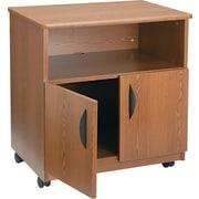 Safco Mobile Machine Stand, Medium Oak Finish