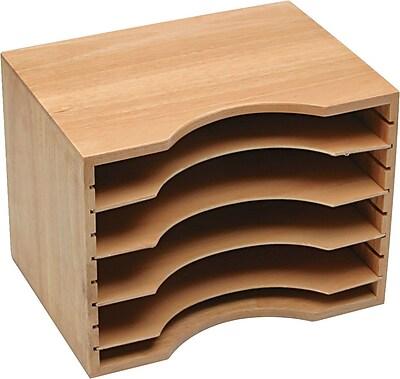 Safco® Light Oak Wood Stackable Sorter