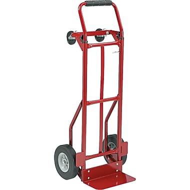 Safco Industrial Hand Truck 500-lb. Capacity Vertical 600-lb. Capacity Horizontal Red (4086R)