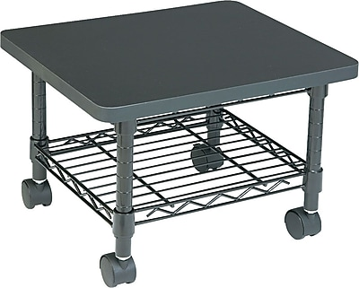Safco® Steel Under-Desk Printer/Fax Stand, Black (5206BL)
