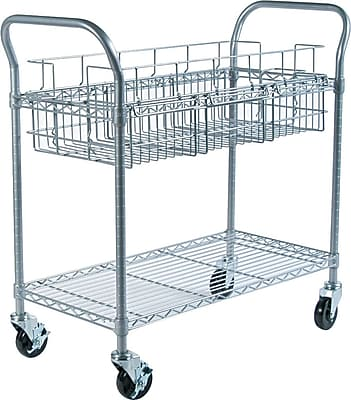 Safco® Mail Cart, Gray, 38 1/2