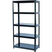 "Safco® Commercial Boltless Steel Shelving, 5 Shelves, Black, 72""H x 36 1/2""W x 18""D"