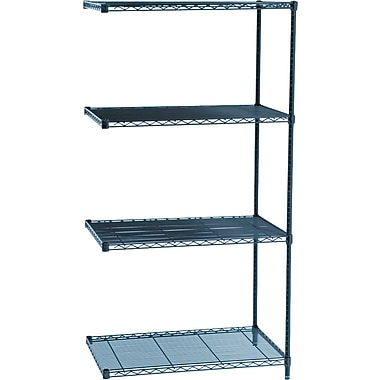 Safco® Industrial Wire Shelving, Add-On Unit, 24