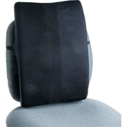"Safco® Remedease® Full Height High-Density Foam Backrest For Chair, Black, 20""(H) x 14""(W) x 3""(D)"