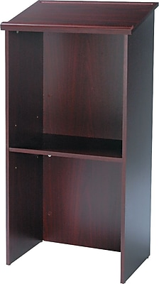 Safco® Adjustable Height Lectern, Mahogany (8915MH)