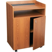 Safco® Executive Mobile Presentation Stand, Medium Oak