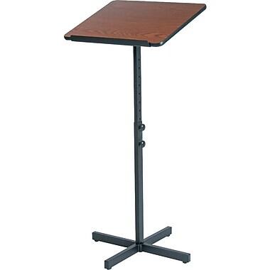 SAFCO Adjustable Speaker Podium, Medium Oak