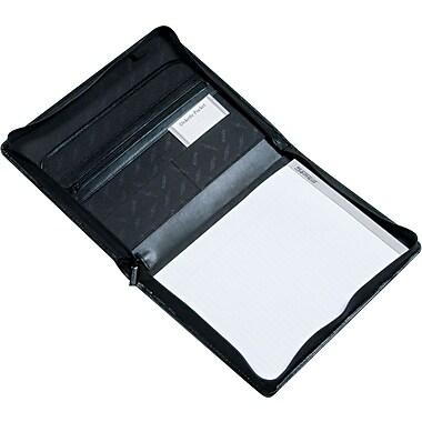 Samsill® Regal™ Leather Zippered Padfolio, Black
