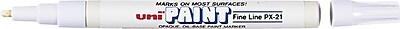 uni-ball® Fine Tip Uni Paint Markers, White (63713)
