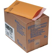"Sealed Air Jiffylite® Self-Seal Kraft Mailers, Side Seam, #00, Golden Brown, 5""W x 10""L, 25/Ct"