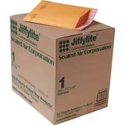 """Staples Self-Seal Cushioned Mailers, 7-1/4"""" x 12"""", Side Seam, #1, 100/Carton (27241)"""