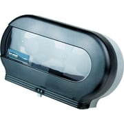 San Jamar® Twin Jumbo Bath Tissue Dispenser, Plastic, Transparent Black Pearl (SAN R4000TBK)