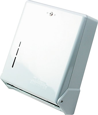 San Jamar® True Fold C-Fold/Multifold Towel Dispenser, Metal, White (T1905WH)