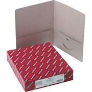 "Smead Two Pocket Portfolios, Gray, 8 1/2"" x 11"", 25/Box"
