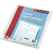 "Smead® Poly Envelope, 1-1/4"" Expansion, String-Tie Closure, Top Load, Letter Size, 5/Pack"