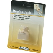 Softalk® Telephone Duplex Jack, Ivory