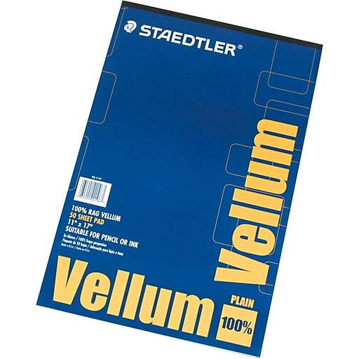Staedtler 100 vellum tracing paper 11 x 17 staples httpsstaples 3ps7is malvernweather Images