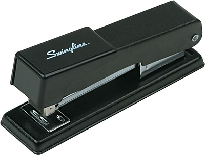 Swingline® Compact Desk Stapler with 1,000 Staples Included, 20 Sheet Capacity, Black, (78911)
