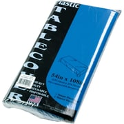 """Tablemate® Table Set® Rectangular Table Covers, 54"""" x 108"""", Blue, 6/Pack"""