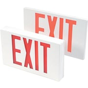 Tatco LED Exit Sign with Battery Back-Up, 12 1/4 x 2 1/2 x 8 3/4, Rugged Polycarbonate, White, Each (07230)