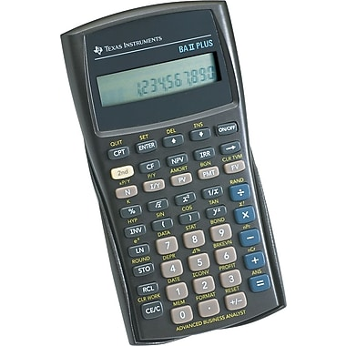 Texas Instruments Ba Ii Plus Financial Calculator  Staples
