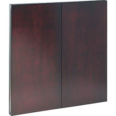 Tiffany Industries Dry-Erase Magnetic Presentation Board, Cloth/Steel, 48 X 48, Mahogany Frame