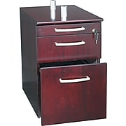 Safco® Napoli Collection In Mahogany, Pedestal File, 3 Drawer